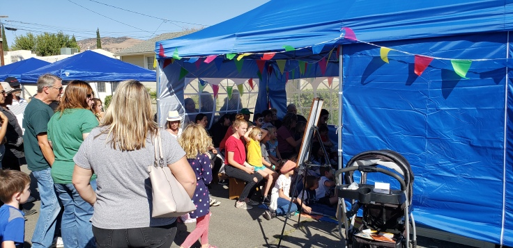 Kids enthralled by Punch n Judy