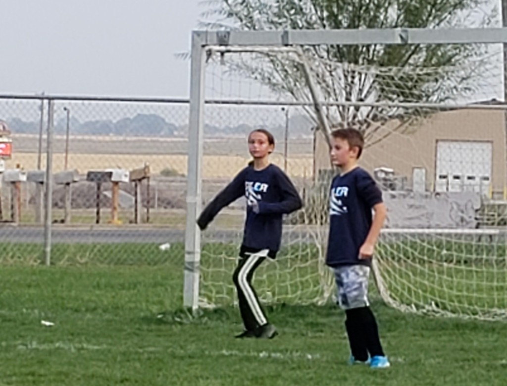 Ivy in goal after scoring 4